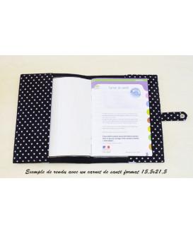 Protège carnet de santé rigide personnalisé - Cadeau de naissance fille personnalisé - noir ruban rose