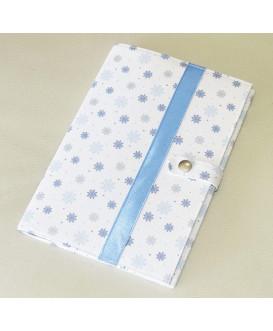 Pochette de rangement pour carnet de santé - flocons de neige