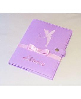 Protège carnet de santé rigide personnalisé - fée clochette - Cadeau de naissance fille personnalisé