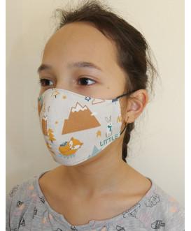 Masque enfant - fille - garçon - lavable et réutilisable -animaux