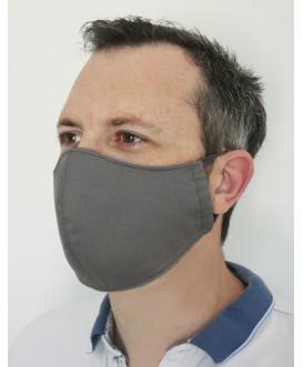 Masque en tissu marron - lavable et réutilisable - homme